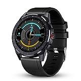 GOKOO Reloj Inteligente Hombre Smartwatch Deportivo Rastreador Actividad Reloj Inteligente Pantalla Táctil Completa Entrenamiento Respiratorio IP68 Impermeable Compatible con Android iOS (Gris)