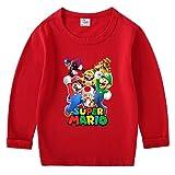 LIJUNQI Super Mario Bros Ropa Niños Sudaderas Niñas Sudaderas Sudaderas Sudaderas Abrigos Niños Impresión 3D Mario Sudaderas Sudaderas Suéter para Hombres, Super Mario 7, 120