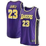 Morado - Camiseta de baloncesto LeBron Away Jersey #23 Malla Jersey Lakers Deporte Chaleco James Top Sin Mangas Angeles Camiseta Los Tela Transpirable