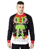 NOROZE - Jersey de Navidad con LED para Hombre, Unisex, Regalo, árbol, Elfo, Santa, suéter Pull-Over de Navidad