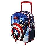 KARACTERMANIA Capitán América First - Mochila Basic con Carro, Multicolor, Talla Única
