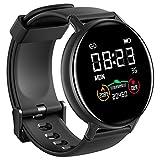 IOWODO Smartwatch Hombre Mujer con Oxímetro(SpO2), Reloj Inteligente Impermeable 5ATM con Notificación de Mensajes Esfera Personalizada Pulsometro Sueño ,Pulsera Actividad Inteligente Para IOS Android