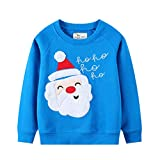 Eulla Sudadera de Navidad para bebé de 1 a 7 años #5 Weihnachtsmann 3 años