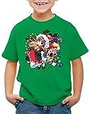 A.N.T. X-mas Gamer Girl Suéter de Navidad Camiseta para Niños T-Shirt Sweater x-mas SNES, Color:Verde, Talla:164