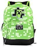 Minecraft Creeper Inside Kids Green School Mochila Mochila para niños