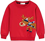 Eulla Sudadera de Navidad para bebé de 1 a 7 años #3 Weihnachts Rentier 6 años