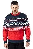 NOROZE Suéter unisex para hombre, diseño de copos de nieve de reno y árbol de Navidad