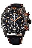 Orient Reloj Cronógrafo para Hombre de Cuarzo con Correa en Cuero FTT16003B0
