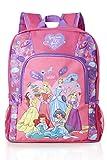 Disney Mochilas Escolares de Las Princesas Disney para Niñas, con Diseño Princesa Bella Durmiente, Cenicienta, Rapunzel, Jasmine, Ariel, Bolsa para Colegio Viajes, Regalos para Niñas