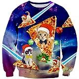 Goodstoworld Navidad Ropa Hombre Mujer Xmas Jerseys 3D Ugly Christmas Sweater Gato Ropa Divertida Elfo Vestido de Navideño XXL