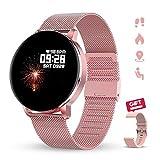 """GOKOO Reloj Inteligente Mujer Smartwatch 1.3"""" IPS Pantalla Pulsera Actividad Completa Táctil Reloj Deportivo IP67 Impermeable Compatible con Android iOS (Rosado)"""