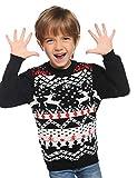 Abollria Suéteres Navideños Jersey de Navidad Pullover de Punto Ugly Christmas Sweater Cuello Redondo para Familia Mujer Hombre Nina Niño Unisex