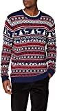 NIZZIN Elm, Suéter de Navidad Unisexo, Azul (Blue 19-3933), Large