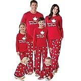 K-youth Ropa de Casa Familia Conjunto de Pijamas Familiares Unisexo Papá Noel Pijamas de Navidad Familiares Ropa de Dormir Padre Hijo Manga Larga Tops y Pantalones Largos(Niño, 4-5 años)