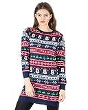 NOROZE Vestidos para Mujer Árbol de Navidad Suéter de Punto Vestido de Traje Jersey de Navidad Damas Túnica Tops