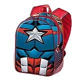 KARACTERMANIA Capitán América Civil War-Mochila 3D (Pequeña), Negro