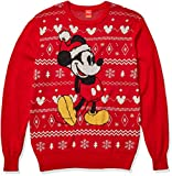 Disney - Suéter navideño para hombre - Rojo - XX-Large alto