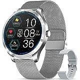 GOKOO Smartwatch Reloj Inteligente con Pulsómetro Cronómetros Calorías con música Monitor de Sueño Podómetro de Actividad Impermeable IP67 Smartwatch Hombre Reloj Deportivo para Android iOS(Plata)