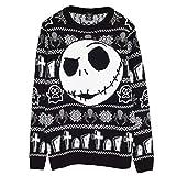 Disney The Nightmare Before Christmas Jack Cara Puente de Punto para Hombres Negro 3XL   Feo Feria suéter de Navidad Puente Isla de Navidad Ideas de Regalos para Hombre Ropa