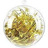 himaly 20 pcs 8cm Bolas de Navidad Transparente de Plástico Acrílico Rellenable 80mm Bola Navidad Plástico Transparente para Llenado de Decoraciones de Árboles de Navidad Bodas Bautismo