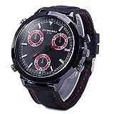 PIXNOR Shiweibao - Reloj de pulsera de cuarzo con correa de goma (rojo)