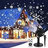 Proyector De Luces NavideñAs,Luz Led NavideñA Con Control Remoto,Para LáMpara De ProyeccióN Exterior Impermeable Ip65 Para JardíN,Navidad, Fiesta, Tormenta De Nieve Copo De Nieve