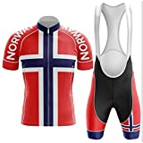 Factory8 - Country Jerseys - Love Your Country! Cycling Jerseys & Sets Collection - Team Norway 'Land of the Bold' Men's Cycling Jersey & Short Set Collection - Norway 1 - 5XL