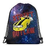 AOOEDM Street Outlaw Camero Promod Bolsa con cordón Deporte Gimnasio Saco Compras Viajes Mochila de hombro plegable Patrón Hombres y mujeres
