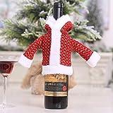 Hankyky pull en peluche couverture de bouteille de vin de Noël, protecteur de bouteille de vin, couvercle étanche à la poussière de bouteille, pour la décoration de table Festival Dinner