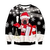 Freshhoodies Unisex Husky Jersey De Navidad 3D Navidad Ropa Divertida Jerseys Traje De Navideño Christmas Jumper Tops Sweatshirt L