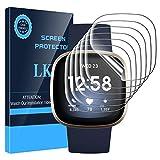 LK Compatible con Fitbit Versa 3/Fitbit Sense Protector de Pantalla, 6 Pack,TPU-Film,Alta definición,Sensible al Tacto