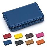 Padike - Tarjetero, ideal para tarjetas de visita, negocios, tarjeta de crédito, tarjeta de identidad, piel sintética de lujo, estuche, portatarjetas, para hombre y mujer