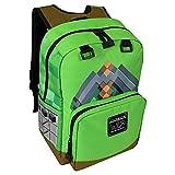JINX Minecraft Backpack Equipaje infantil 44 centimeters Verde (Green)