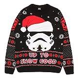 Star Wars Soldado de Asalto hasta la Nieve Buena Puente de Punto para Hombres Negro XS   Feo Feria suéter de Navidad Puente Isla de Navidad Ideas de Regalos para Hombre Ropa