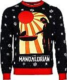 numskull Unisex Oficial Star Wars The Mandalorian suéter de Navidad de Punto para Hombres o Mujeres - Feo Regalo de un suéter de Novedad