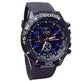 Ularma Reloj de pulsera Sport silicona de cuarzo reloj hombres (azul)