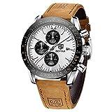 BENYAR Reloj cronógrafo para Hombre Movimiento de Cuarzo Fashion Business Sports Watch 30M Impermeable Regalo del Día del Padre