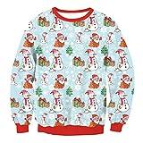 GEHHI Jersey de Navidad, Suéter de Decoración Navideña Unisex Suéter Feo Lindo,H,M