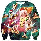 Goodstoworld Jersey Navidad Mujer Hombre Pareja 3D Christmas Sweater Ropa Divertida Vintage Elfo Cerdo Jerseys Traje Navideño M